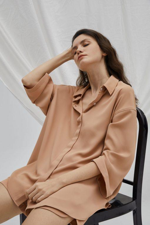 Long Sleeve Lounge Shirt & Shorts Set