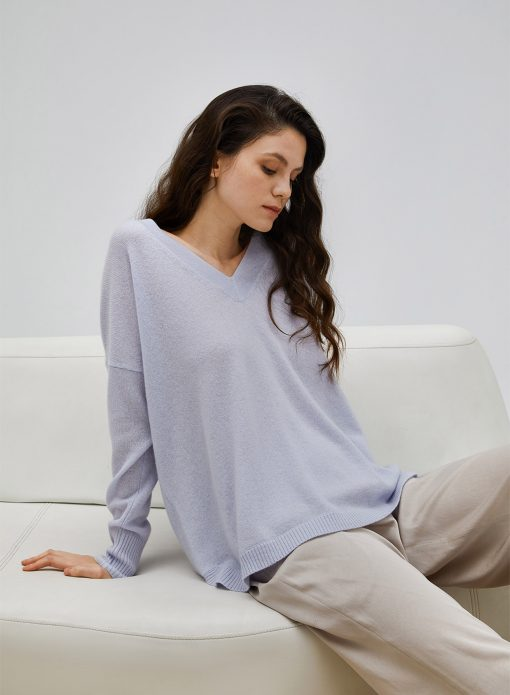 Cashmere Long Sleeved Pullover Sweater