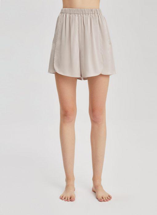 Elastic Waist Leisure Pajama Shorts
