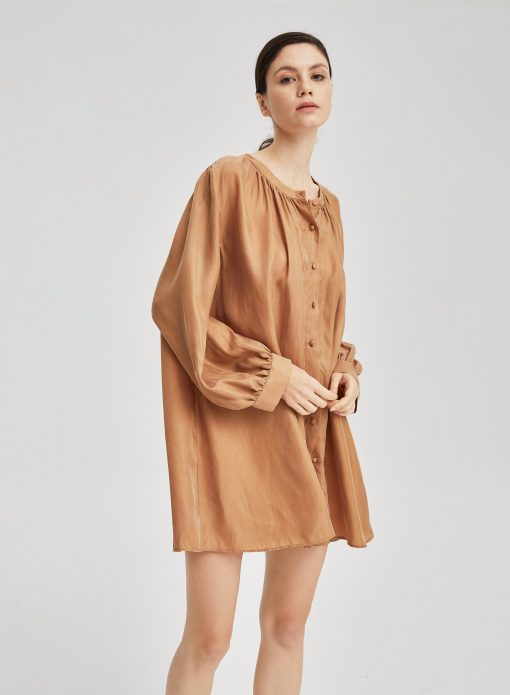 Oversized Mini Length Shirt Dress