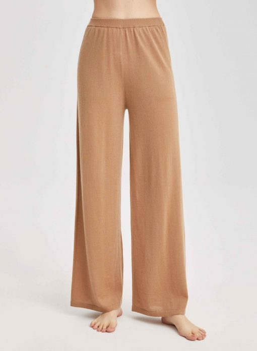 Cashmere Solid High Waist Fleece Sweatpants