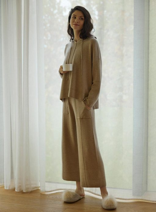 Wool Hooded Set