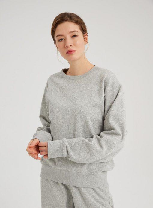 Drop Shoulders Crewneck Sweatshirt
