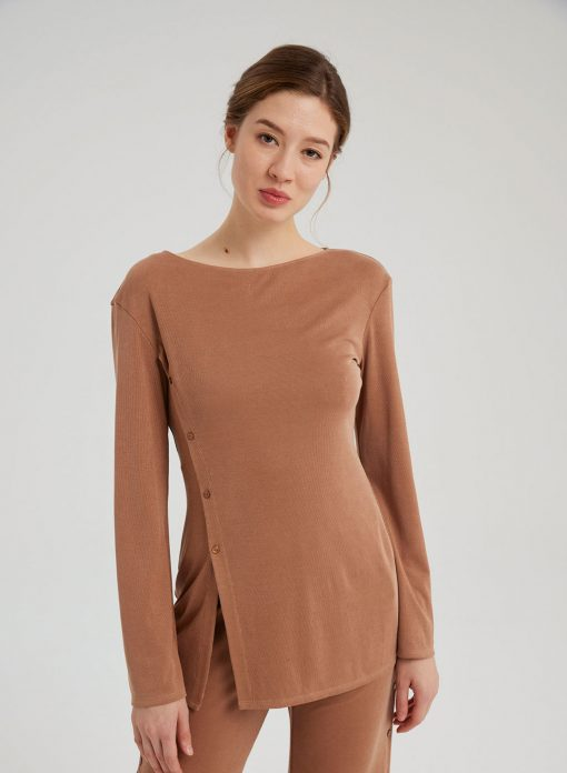 Stretchy Solid Pullover Top