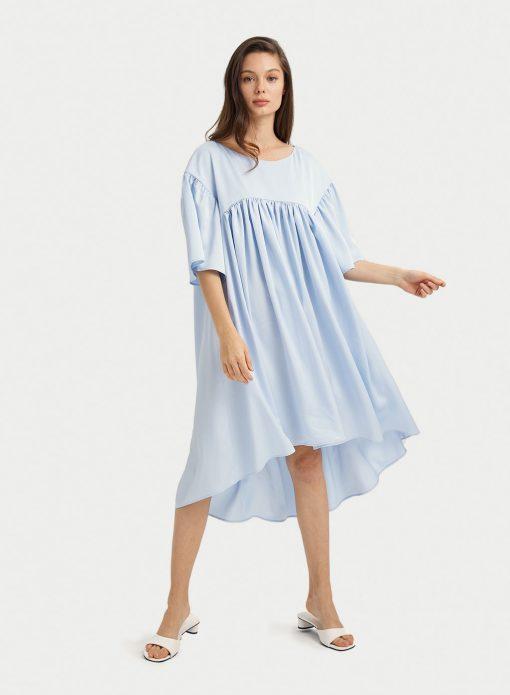 High Low Casual Midi Dress