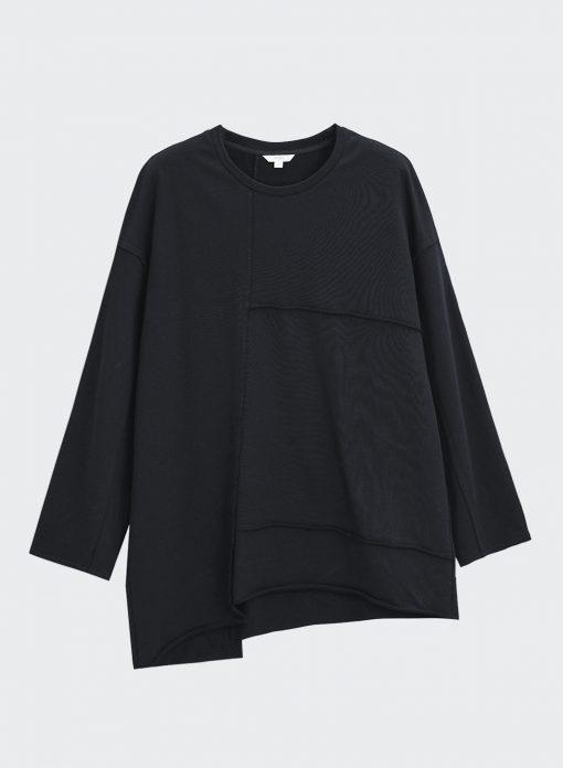 black sweatshirt