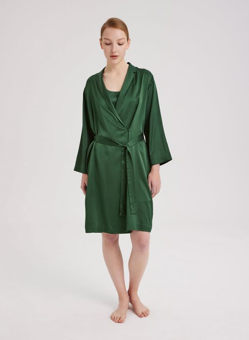 100% Silk Robe & Dress Set