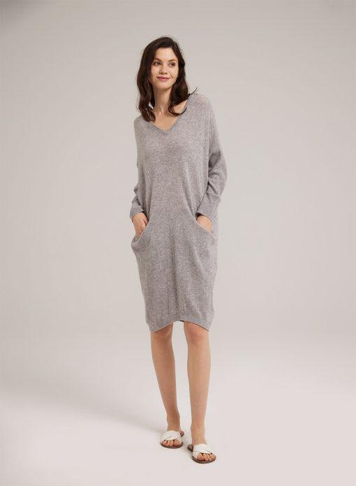 Wool Loose Knitted Midi Dress
