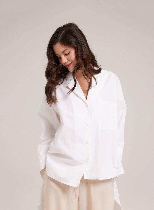 Asymmetric Notched Shirt