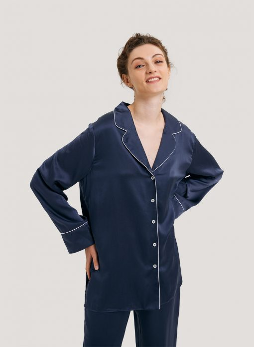 100% Silk Relaxed Pajama Shirt