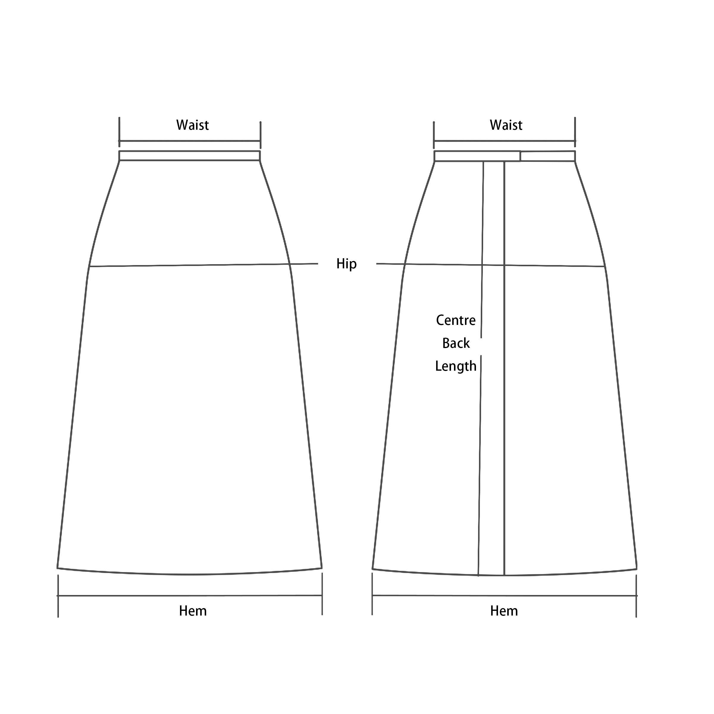 High Waist Front-Split Skirt