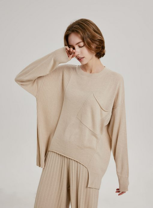 Batwing Round Neck Pullover