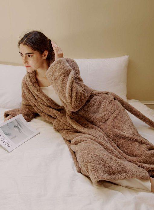 Plush Soft Fleece Bathrobe
