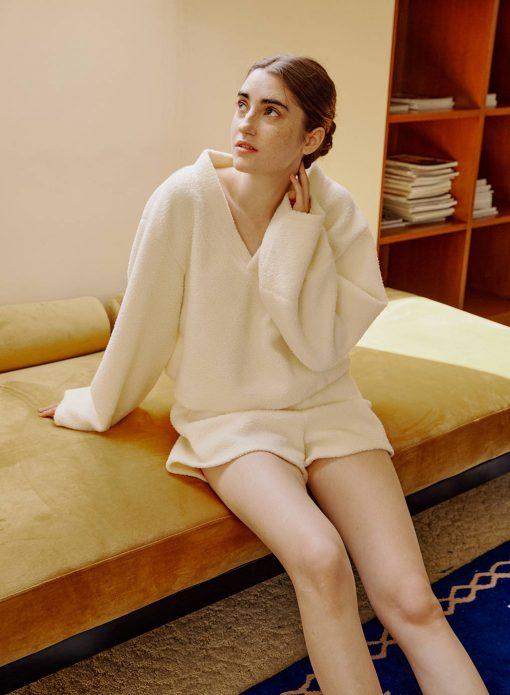 Fuzzy Long Sleeve PJ Set