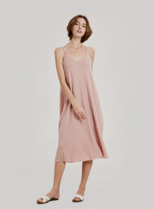 Flowy Spaghetti Strap Midi Dress