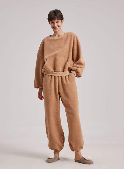 Women Fuzzy Pajama Set